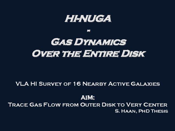 HI-NUGA Gas Dynamics Over the Entire Disk VLA HI Survey of 16 Nearby Active