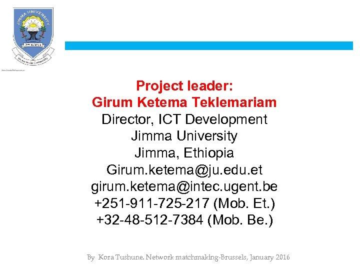 www ju edu et University Collaboration for