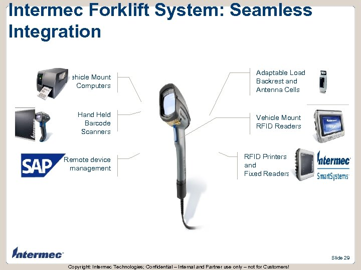 Intermec Forklift System: Seamless Integration Vehicle Mount Computers Hand Held Barcode Scanners Remote device