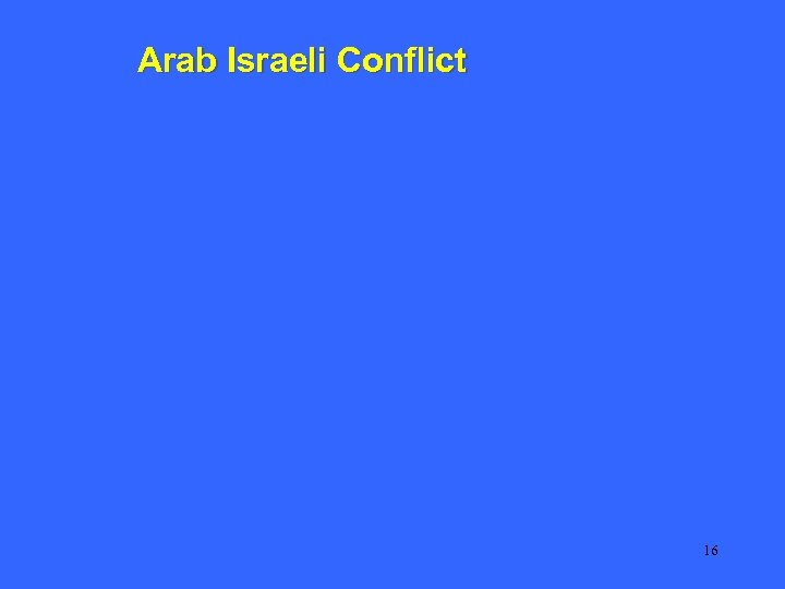 Arab Israeli Conflict 16