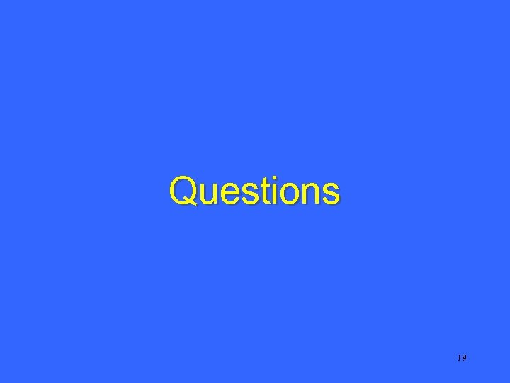 Questions 19