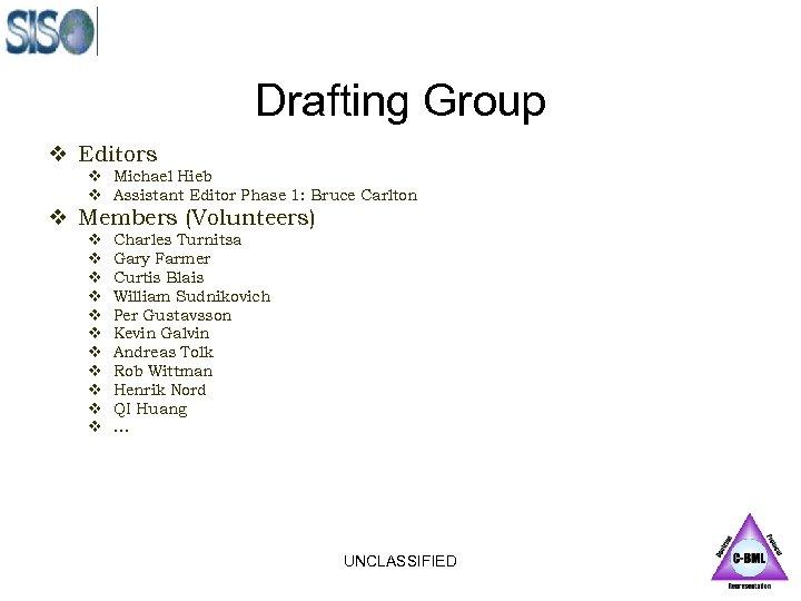 Drafting Group v Editors v Michael Hieb v Assistant Editor Phase 1: Bruce Carlton