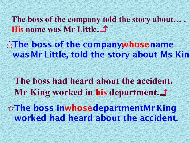 The boss of the company told the story about…. His name was Mr Little.