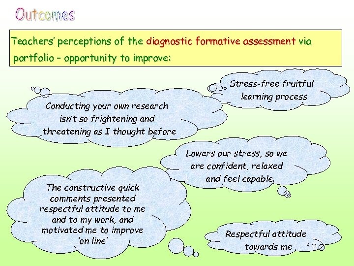 Teachers' perceptions of the diagnostic formative assessment via portfolio – opportunity to improve: Conducting
