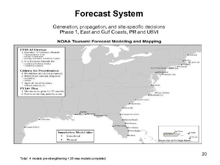 Forecast System Generation, propagation, and site-specific decisions Phase 1, East and Gulf Coasts, PR