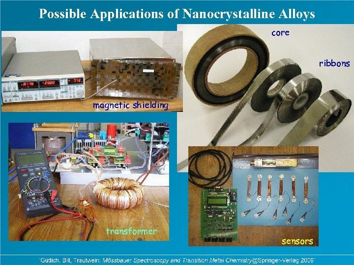 Possible Applications of Nanocrystalline Alloys core ribbons magnetic shielding transformer sensors