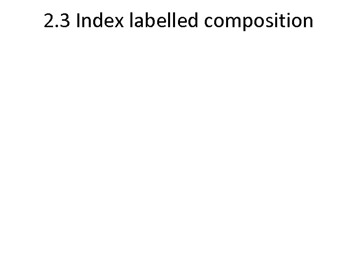 2. 3 Index labelled composition