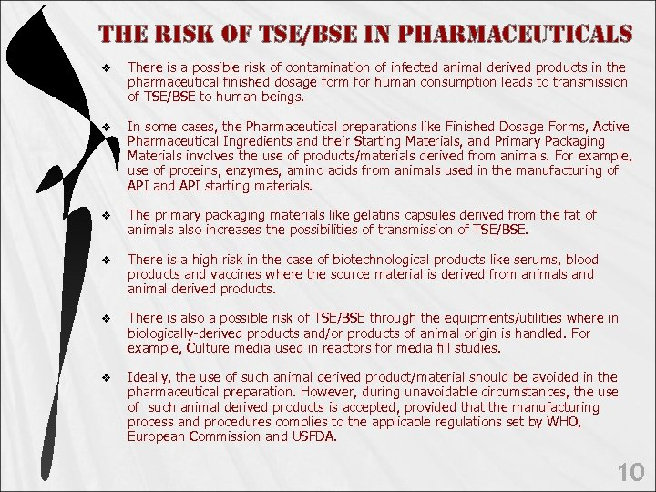 t. He Ris. K o. F tse/Bse in PHARMAceutic. ALs v There is a