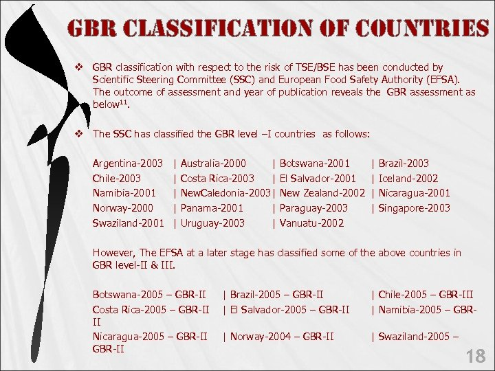 GBR c. LAssi. Fic. Ation o. F count. Ries v GBR classification with respect