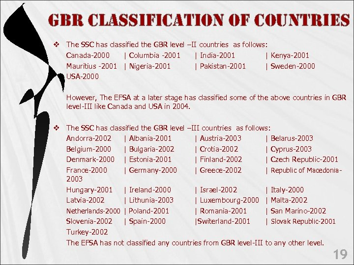 GBR c. LAssi. Fic. Ation o. F count. Ries v The SSC has classified