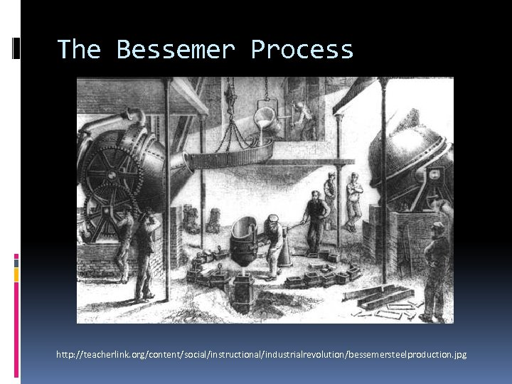 The Bessemer Process http: //teacherlink. org/content/social/instructional/industrialrevolution/bessemersteelproduction. jpg