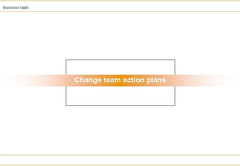 Business tools Change team action plans