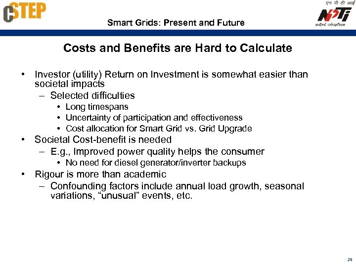 Smart Grids: Present and Future Costs and Benefits are Hard to Calculate • Investor