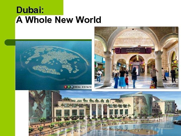 Dubai: A Whole New World
