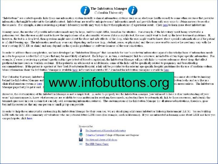 www. infobuttons. org