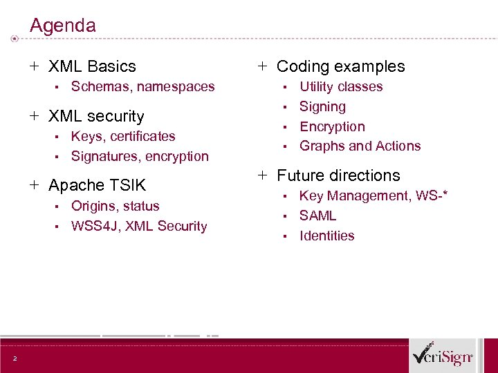 Agenda + XML Basics ▪ Schemas, namespaces + XML security ▪ Keys, certificates ▪