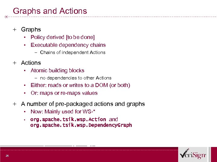 Graphs and Actions + Graphs ▪ Policy derived [to be done] ▪ Executable dependency