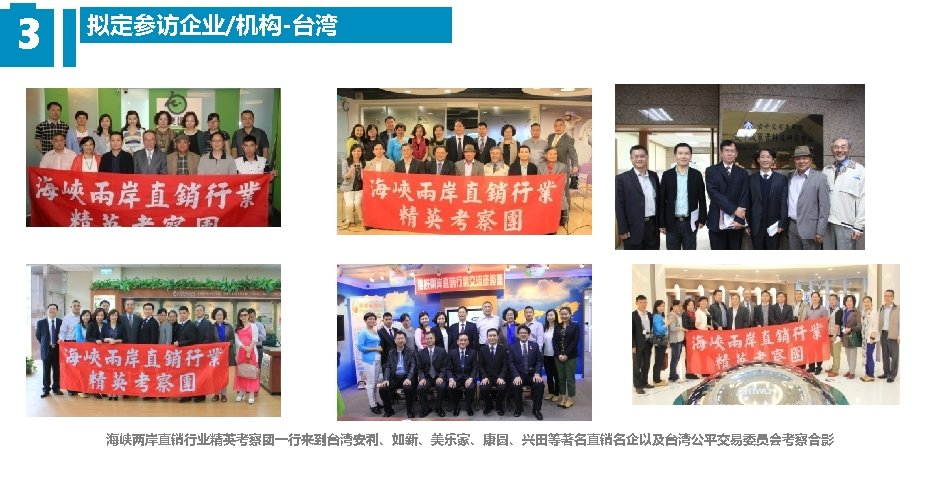 3 拟定参访企业/机构-台湾 海峡两岸直销行业精英考察团一行来到台湾安利、如新、美乐家、康圆、兴田等著名直销名企以及台湾公平交易委员会考察合影