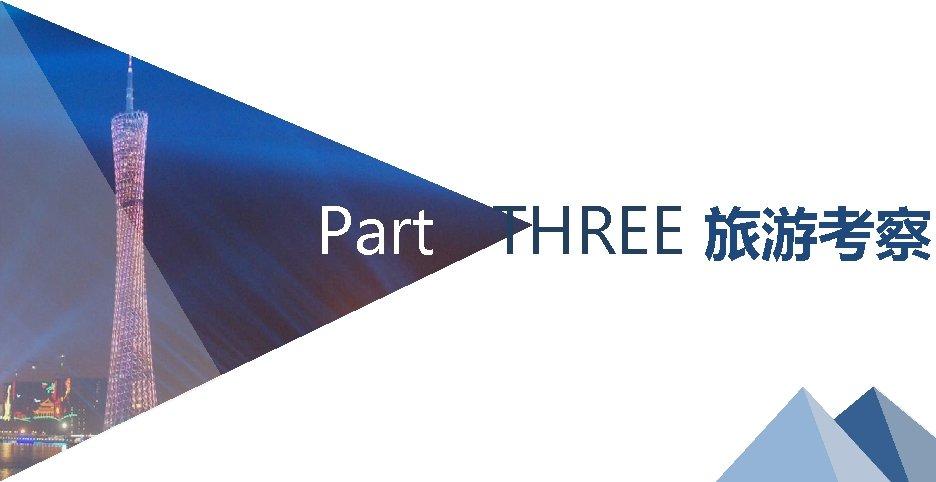 Part THREE 旅游考察 19