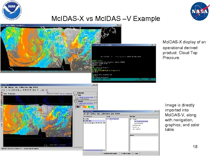 Mc. IDAS-X vs Mc. IDAS –V Example Mc. IDAS-X display of an operational derived