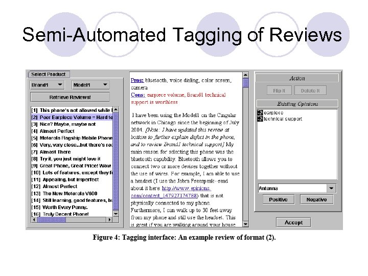 Semi-Automated Tagging of Reviews