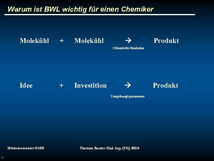 Warum ist BWL wichtig für einen Chemiker Molekühl + Molekühl Produkt Chemische Reaktion Idee