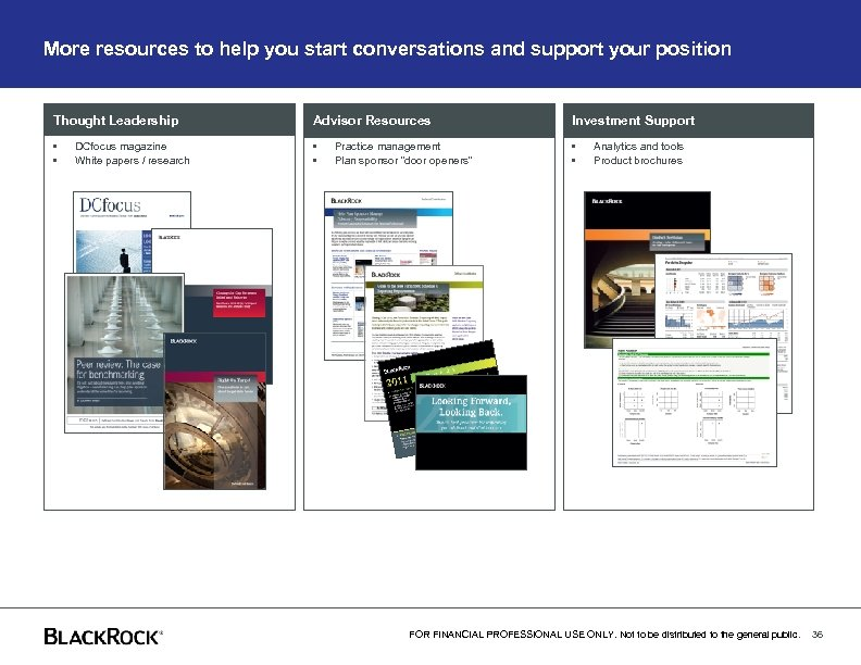 More resources to help you start conversations and support your position Thought Leadership Advisor