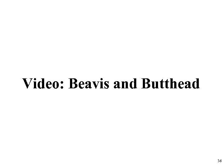 Video: Beavis and Butthead 36