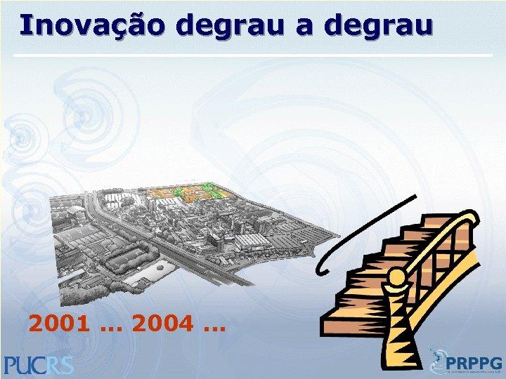 Inovação degrau a degrau 2001. . . 2004. . .