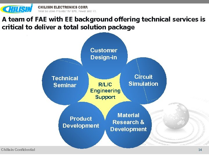 A team of FAE with EE background offering technical services is critical to deliver