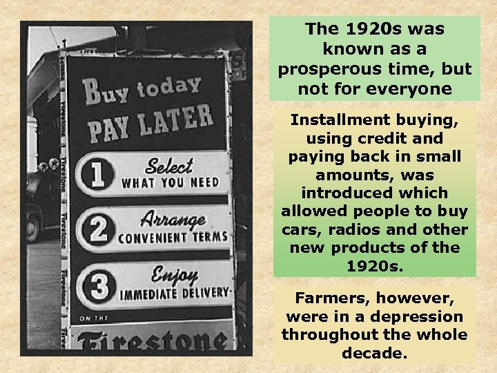 The 1920 s was known as a prosperous time, but not for everyone Installment