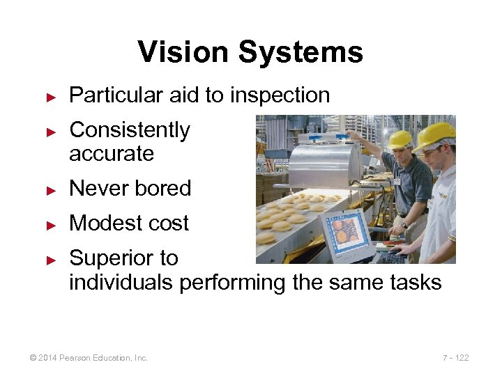 Vision Systems ► ► Particular aid to inspection Consistently accurate ► Never bored ►