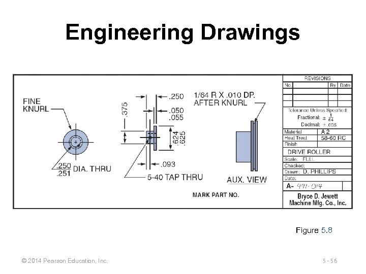 Engineering Drawings Figure 5. 8 © 2014 Pearson Education, Inc. 5 - 56