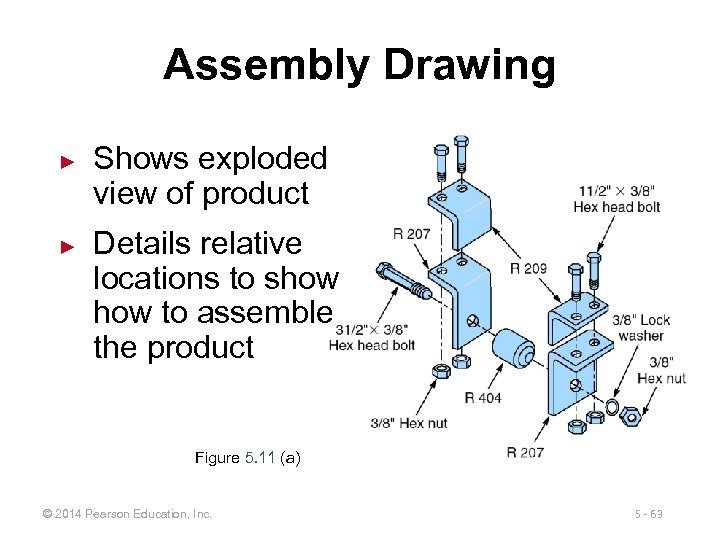 Assembly Drawing ► ► Shows exploded view of product Details relative locations to show