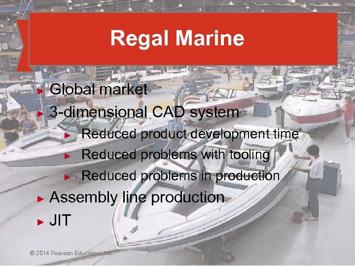 Regal Marine Global market ► 3 -dimensional CAD system ► ► Reduced product development