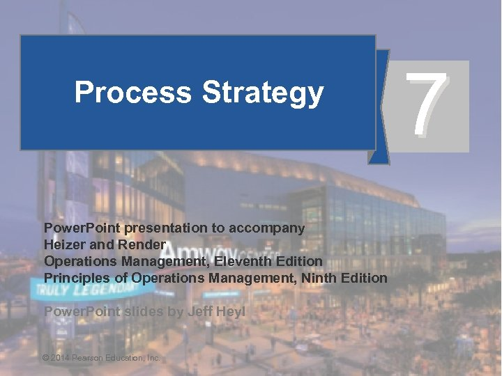 Process Strategy 7 Power. Point presentation to accompany Heizer and Render Operations Management, Eleventh