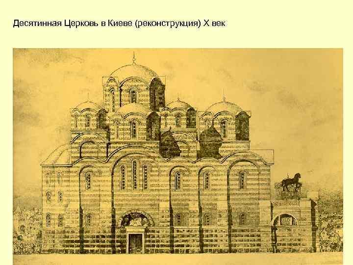 Десятинная Церковь в Киеве (реконструкция) X век