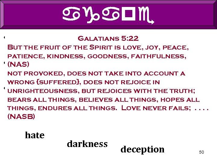 agape • Agape is 1 Corinthians 13: 4 -8 Christian's the foundation of the