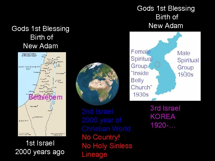Gods 1 st Blessing Birth of New Adam Bethlehem 1 st Israel 2000 years