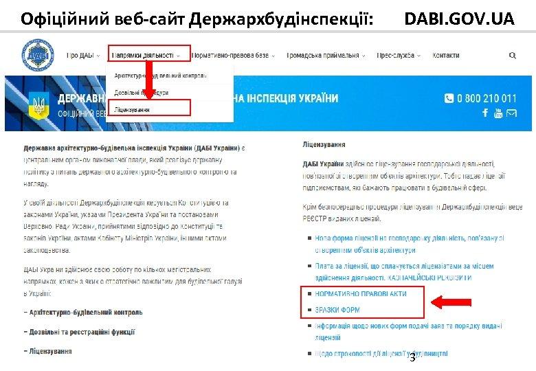 Офіційний веб-сайт Держархбудінспекції: DABI. GOV. UA 3