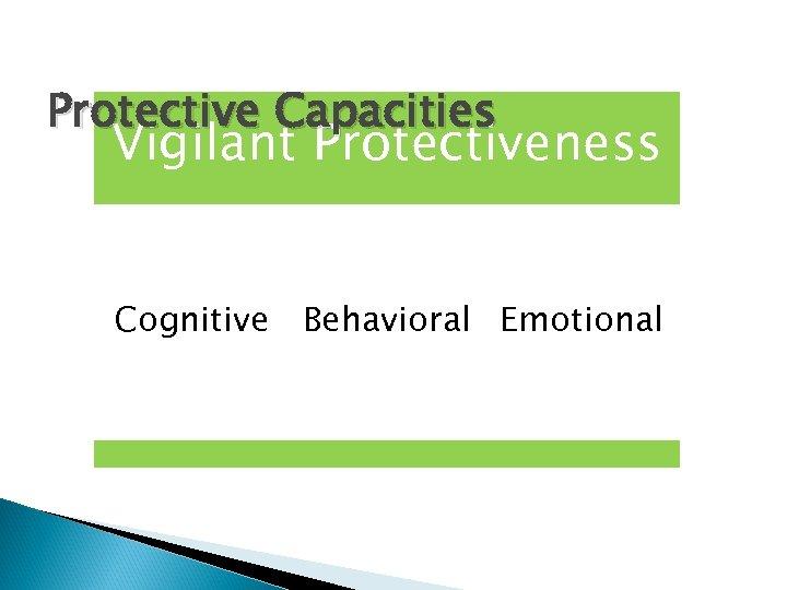 Protective Capacities Vigilant Protectiveness Cognitive Behavioral Emotional
