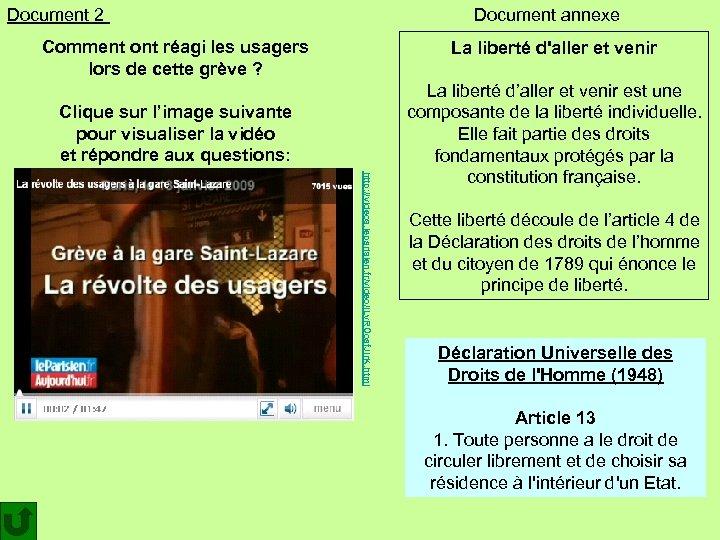 Document 2 Document annexe Comment ont réagi les usagers lors de cette grève ?