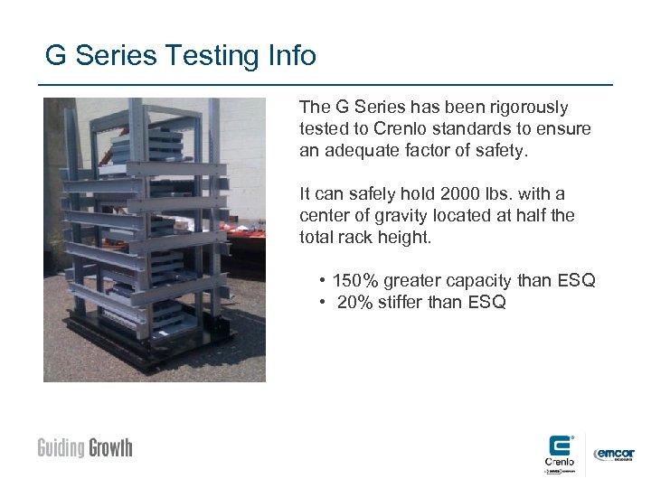 G Series Testing Info The G Series has been rigorously tested to Crenlo standards