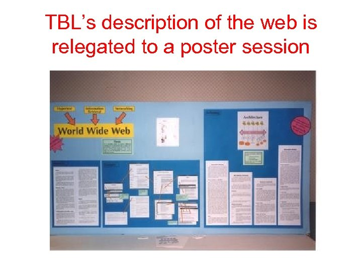 TBL's description of the web is relegated to a poster session