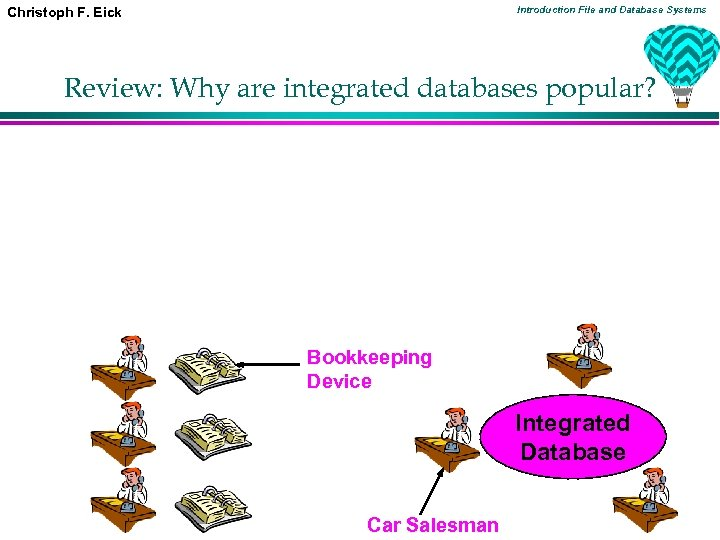 Introduction File and Database Systems Christoph F. Eick Review: Why are integrated databases popular?
