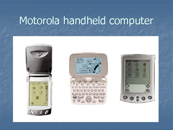Motorola handheld computer