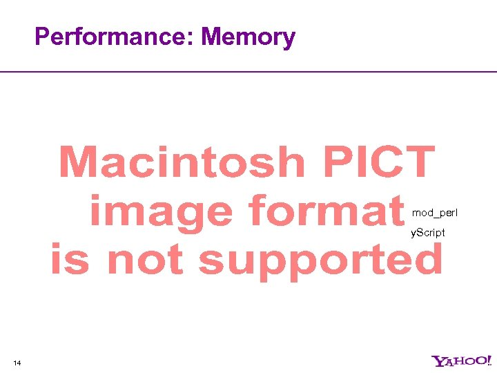 Performance: Memory mod_perl y. Script 14