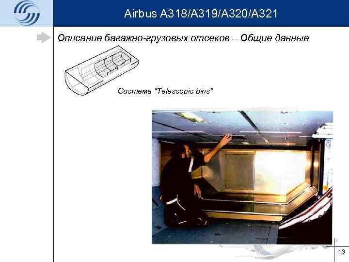 """Airbus A 318/A 319/A 320/A 321 Описание багажно-грузовых отсеков – Общие данные Система """"Telescopic"""