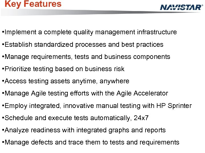 Key Features • Implement a complete quality management infrastructure • Establish standardized processes and