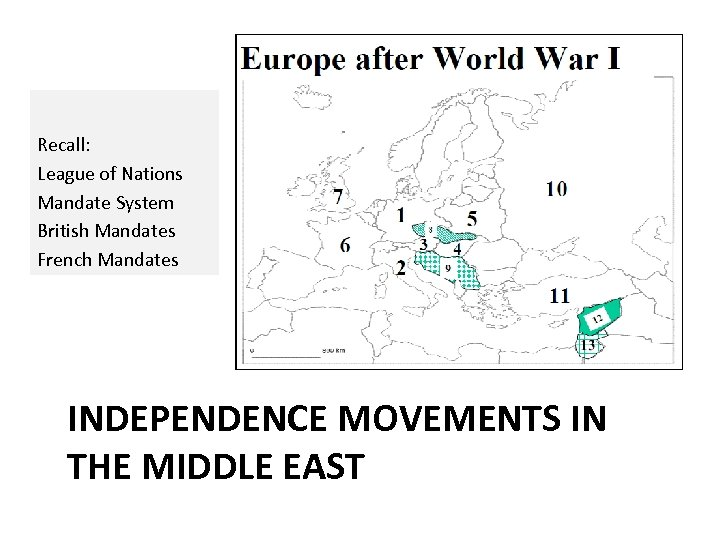 mandate system middle east